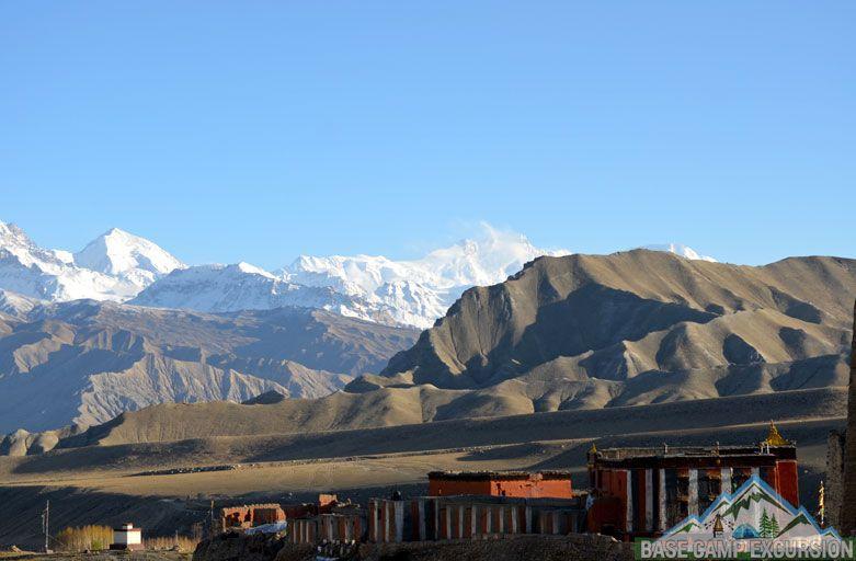 Ghami to Tsarang trek distance via Chinggel la 3870 m Mustang