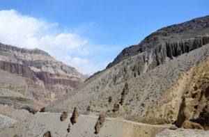Kagbeni to Chele distance via Tangbe & Chhusang explore ancient caves