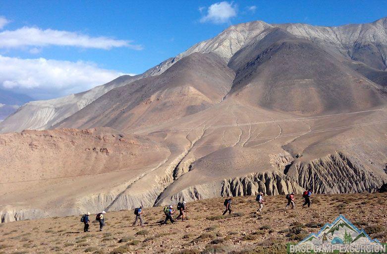 Kagbeni to Muktinath trek distance visit Mukti Kshetra & Ranipauwa village