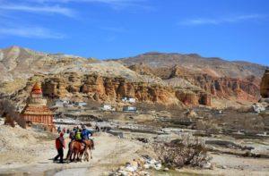 Lo Manthang trek map, altitude to visit Kingdom of Mustang
