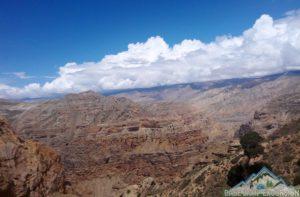 Semi-arid desert of upper mustang Himalayas