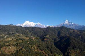 Australian camp to Sarangkot trek distance via Kande to Pokhara 1, 2, 3 days trek Pokhara Nepal