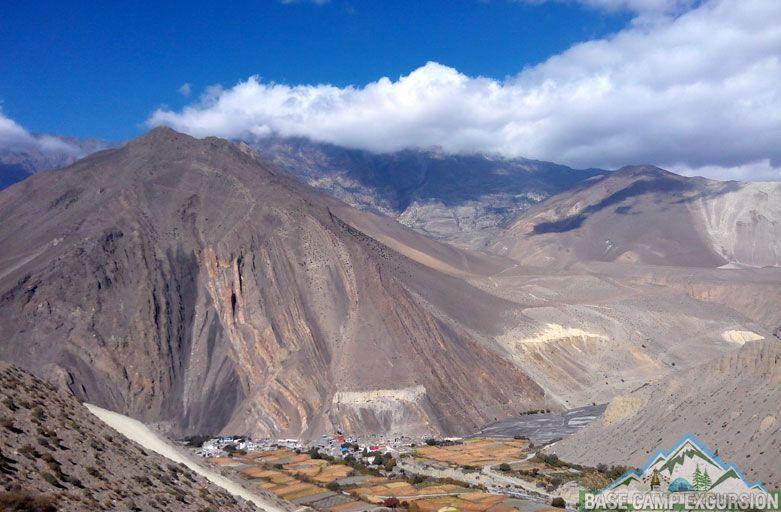 Chhusang to Jomsom trek distance the last stage of Upper Mustang trek