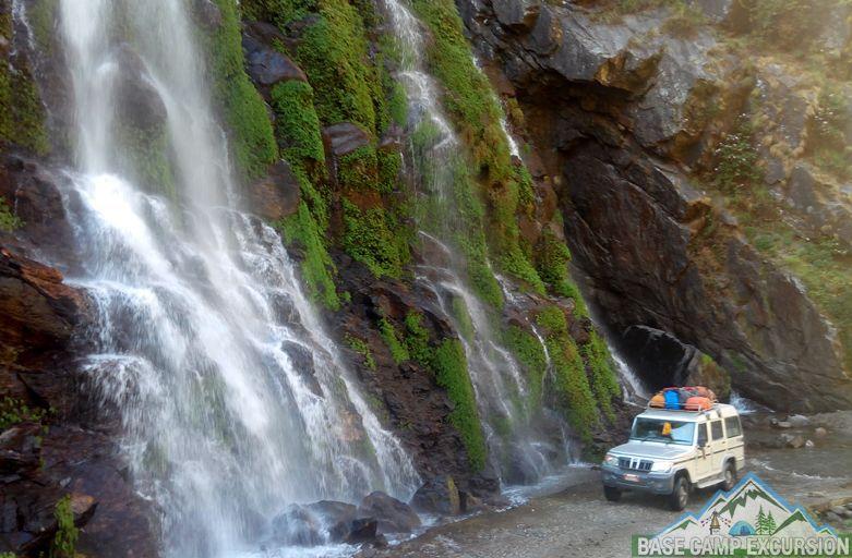 Kathmandu to Chame jeep transport for Annapurna circuit trek via Besisahar & Bhulbhule with Kathmandu to Besisahar distance