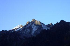 Kyanjin Gompa to Tserko ri trek distance & altitude on Langtang trek map