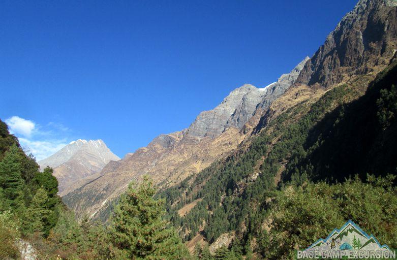 Jagat to Dyang trek distance & elevation of around Manaslu trekking route
